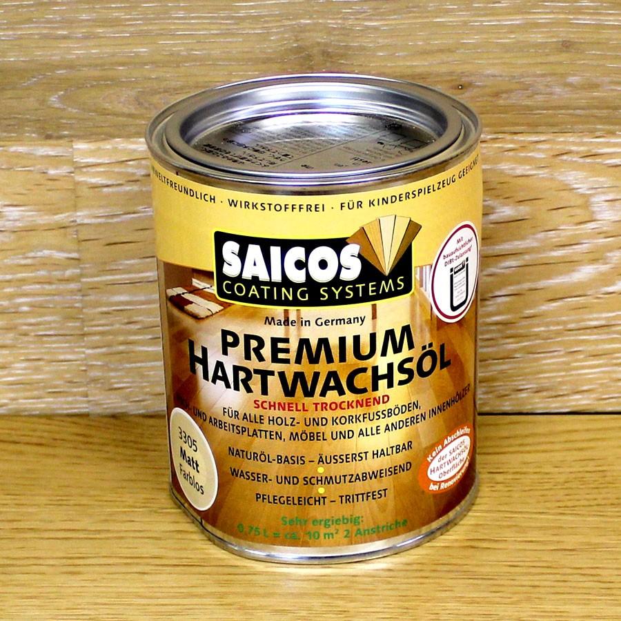 Масло с твердым воском с ускоренным временем высыхания «Saicos Hartwachsol Premium» (Германия)